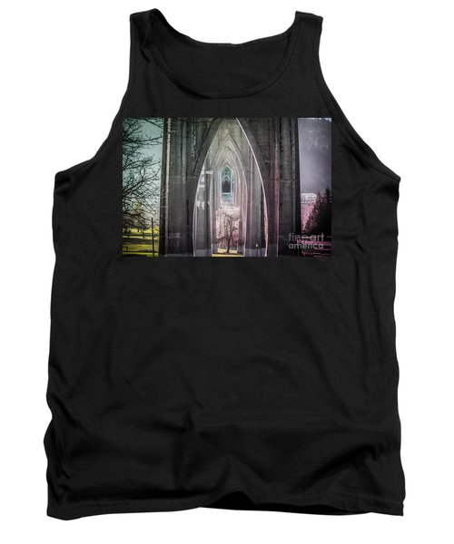 Gothic Arches Hands Folded In Prayer Tank Top