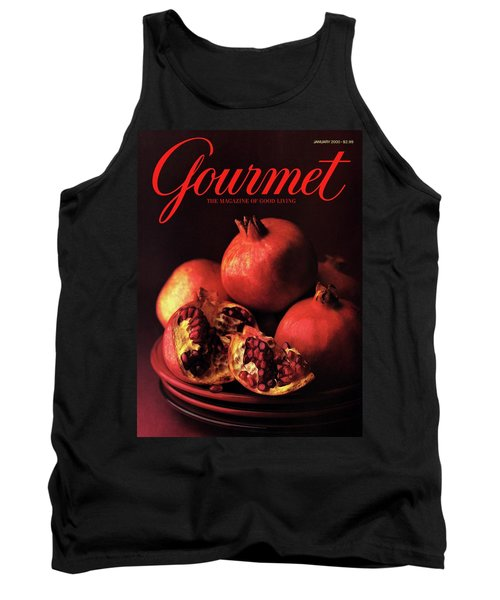 Gourmet Cover Featuring A Plate Of Pomegranates Tank Top