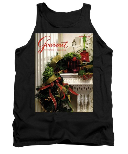Gourmet Magazine Cover Featuring Christmas Garland Tank Top
