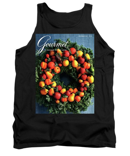 Gourmet Magazine Cover Featuring Marzipan Wreath Tank Top