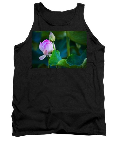Graceful Lotus. Pamplemousses Botanical Garden. Mauritius Tank Top