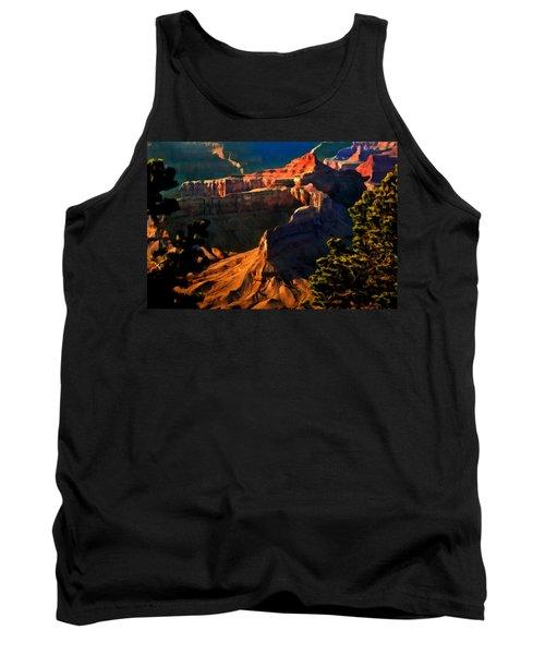 Grand Canyon At Sunset Tank Top by Bob and Nadine Johnston