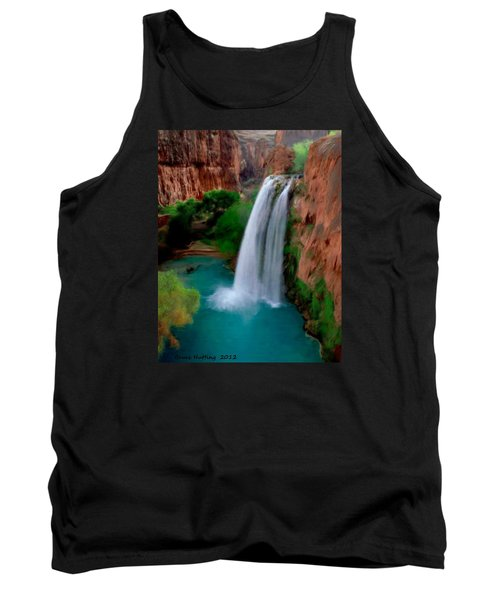 Tank Top featuring the painting Grand Canyon Waterfalls by Bruce Nutting