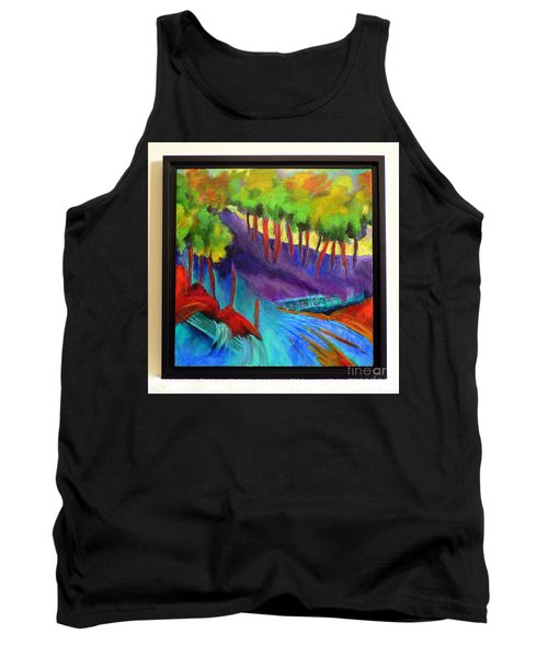 Tank Top featuring the painting Grate Mountain by Elizabeth Fontaine-Barr