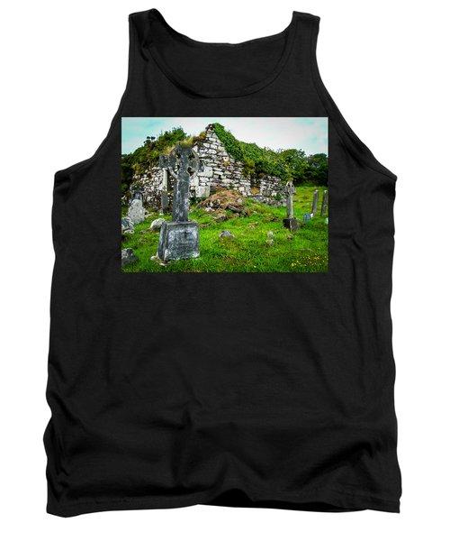 Graveyard And Church Ruins On Ireland's Mizen Peninsula Tank Top