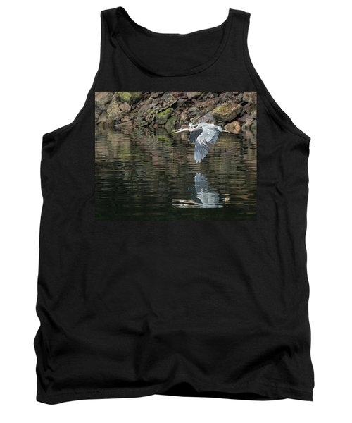 Great Blue Heron Reflections Tank Top