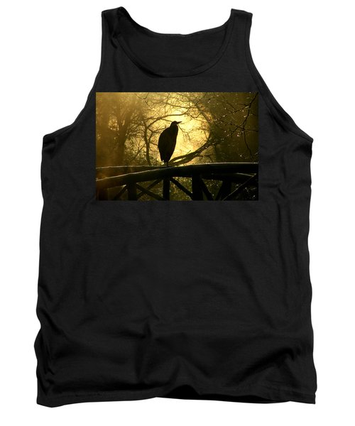 Great Blue Heron Silhouette Tank Top by Brian Chase