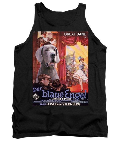 Great Dane Art Canvas Print - Der Blaue Engel Movie Poster Tank Top
