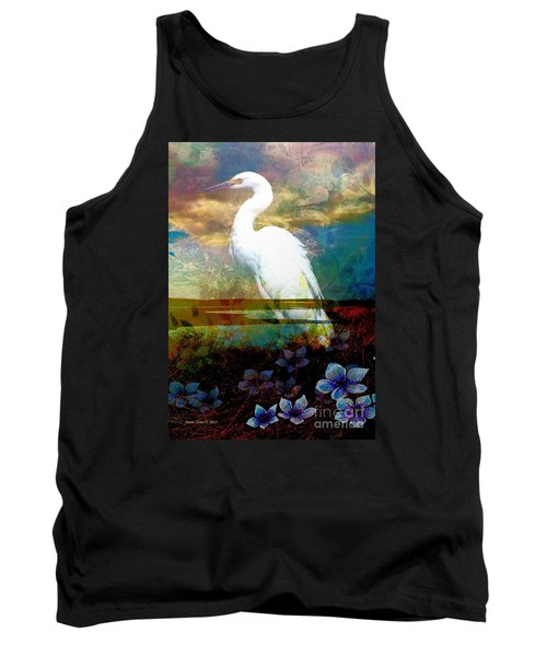 Tank Top featuring the photograph Great Egret by Annie Zeno