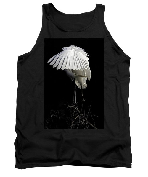 Great Egret Bowing Tank Top