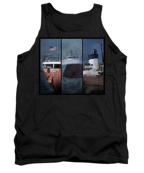 Great Lakes Freighter Triptych Arthur M Anderson Tank Top