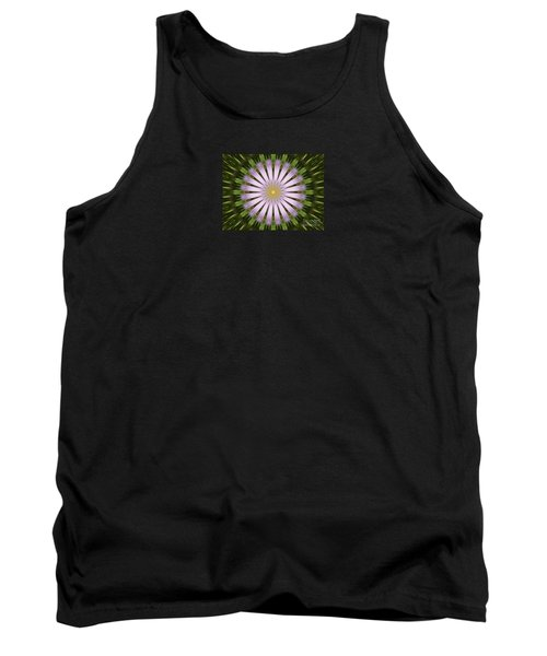 Green And Purple Starburst Tank Top
