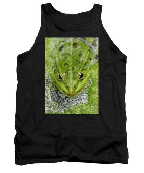 Green Frog Tank Top by Matthias Hauser
