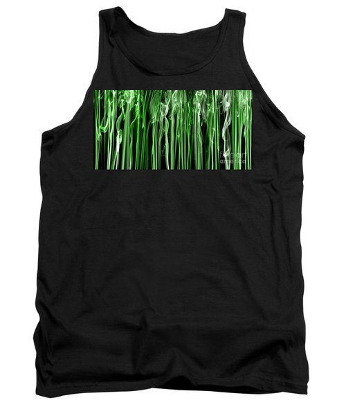 Green Grass Smoke Photography Tank Top by Sabine Jacobs