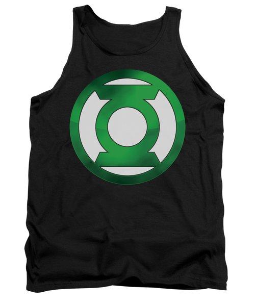 Green Lantern - Green Chrome Logo Tank Top