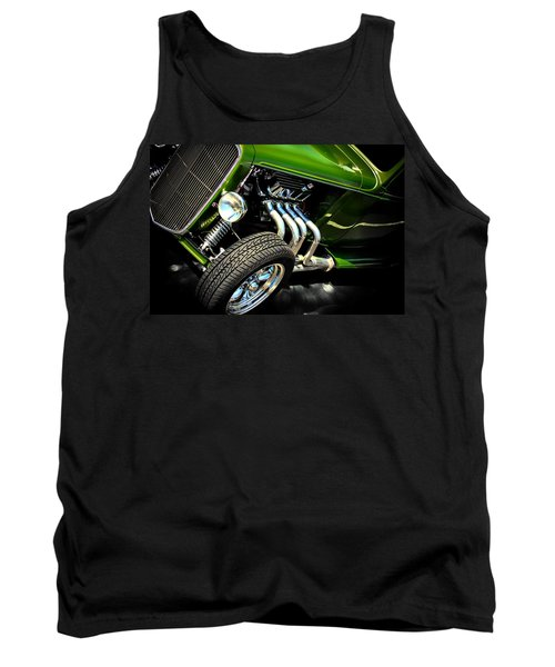 Hot Rod Tank Top featuring the photograph Green Machine  by Aaron Berg