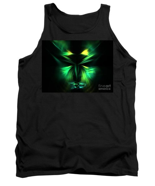 Green Man Tank Top by Kim Sy Ok