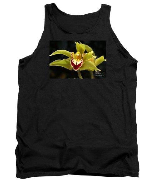 Green Orchid Flower Tank Top by Joy Watson