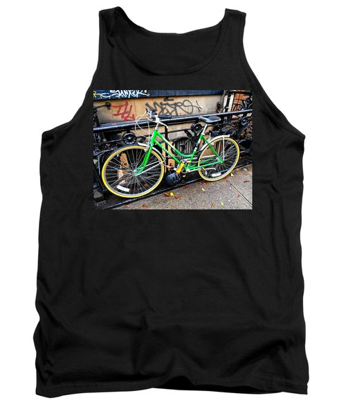 Green Schwinn Bike  Nyc Tank Top