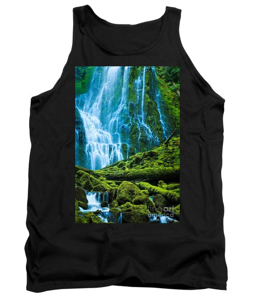 Green Waterfall Tank Top