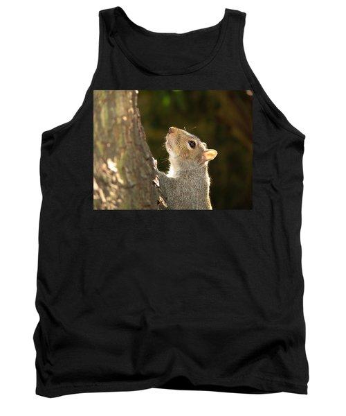 Grey Squirrel Tank Top by Ron Harpham