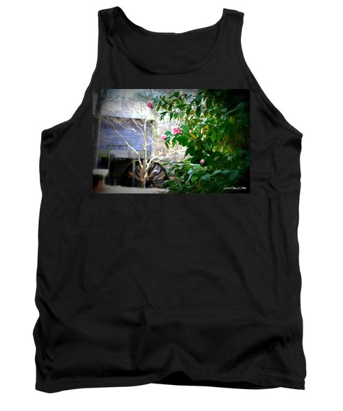 Tank Top featuring the photograph Grist Mill Roses by Tara Potts