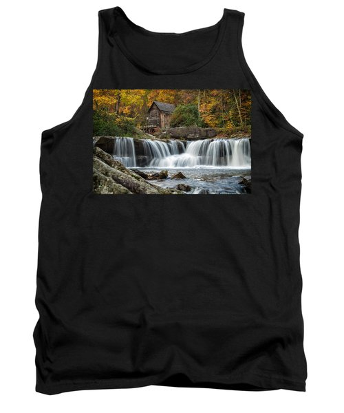 Grist Mill With Vibrant Fall Colors Tank Top