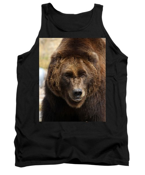 Tank Top featuring the photograph Grizzly by Steve McKinzie