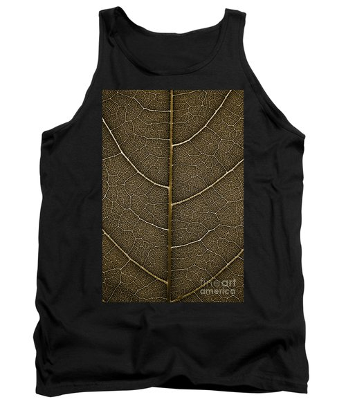 Tank Top featuring the photograph Grunge Leaf Detail by Carsten Reisinger