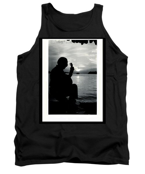 Guitarist By The Sea Tank Top