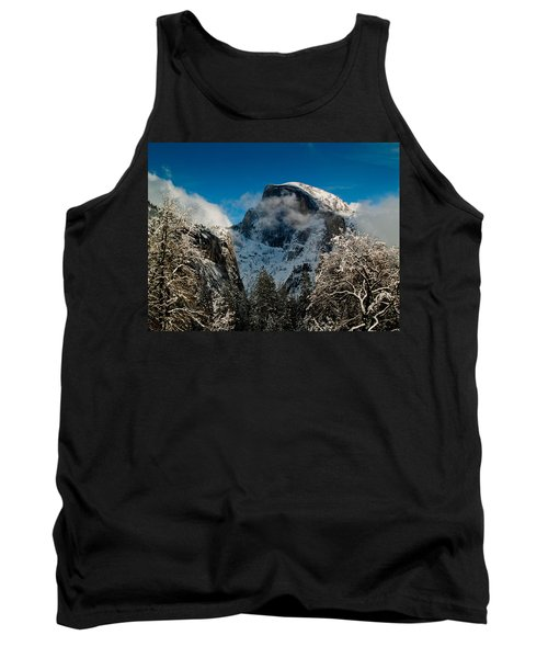 Half Dome Winter Tank Top by Bill Gallagher