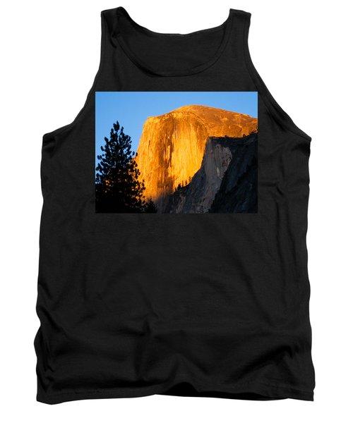 Half Dome Yosemite At Sunset Tank Top