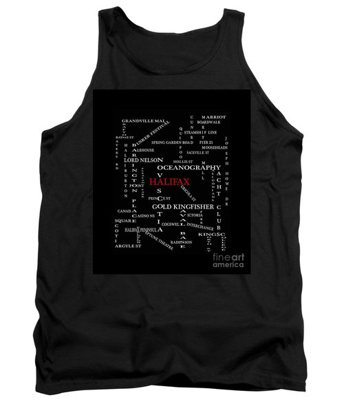 Halifax Nova Scotia Landmarks And Streets Tank Top