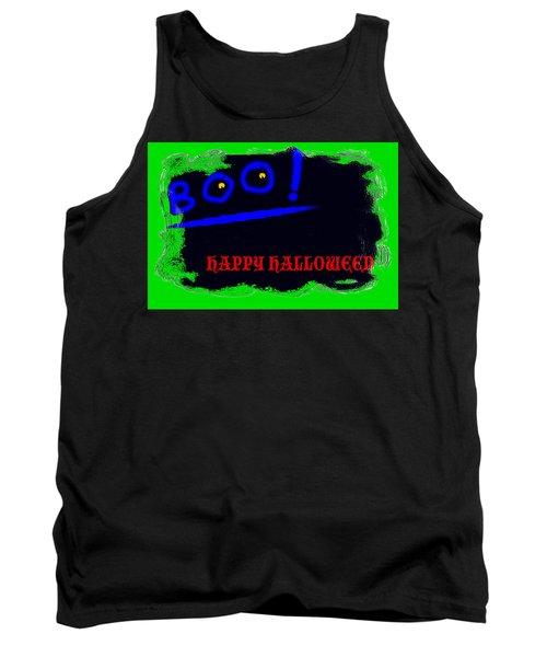 Tank Top featuring the digital art Halloween Boo by Christopher Rowlands