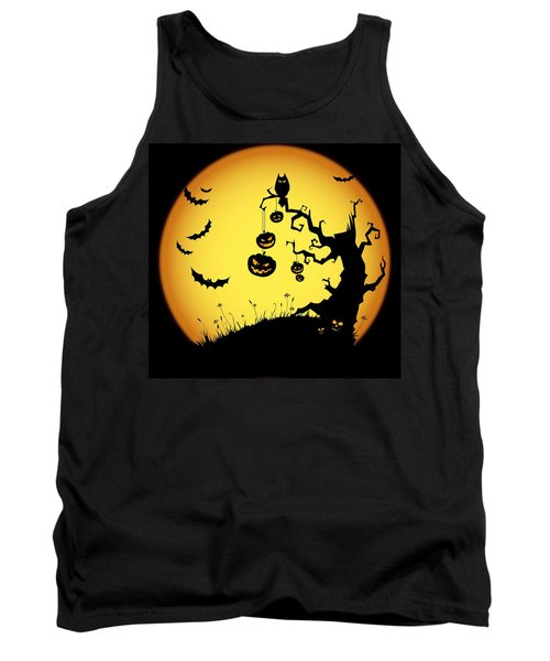 Tank Top featuring the photograph Halloween Haunted Tree by Gianfranco Weiss