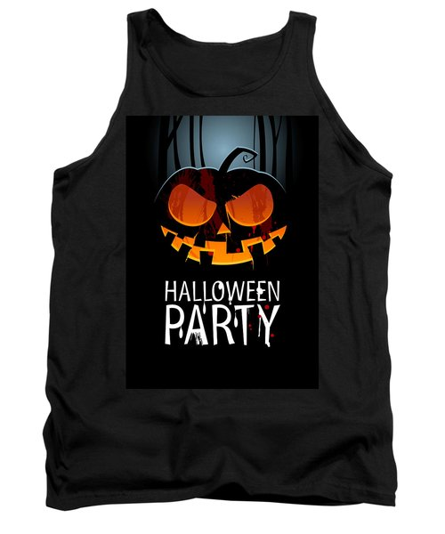 Tank Top featuring the painting Halloween Party by Gianfranco Weiss