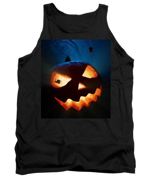 Halloween Pumpkin And Spiders Tank Top