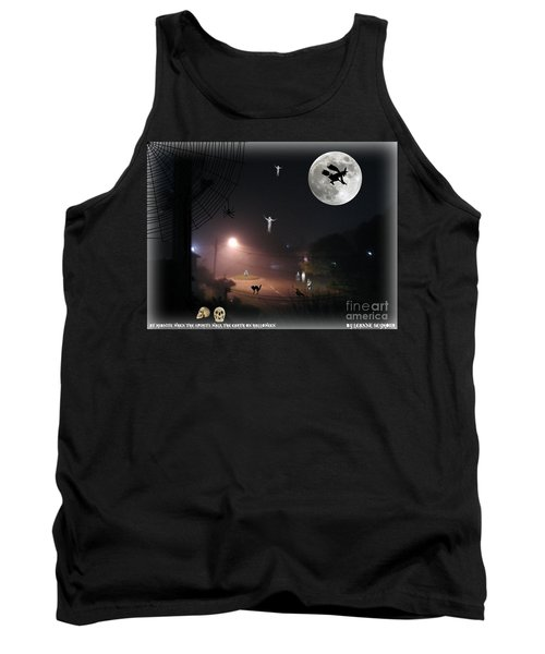 Tank Top featuring the photograph Halloween Spooks by Leanne Seymour