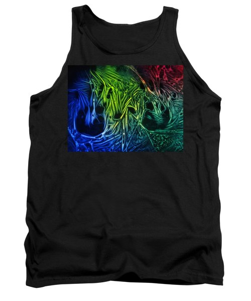 Tank Top featuring the photograph chemiluminescence photography Handprint by David Mckinney