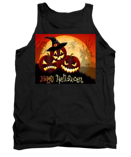 Tank Top featuring the painting Happy Halloween by Gianfranco Weiss
