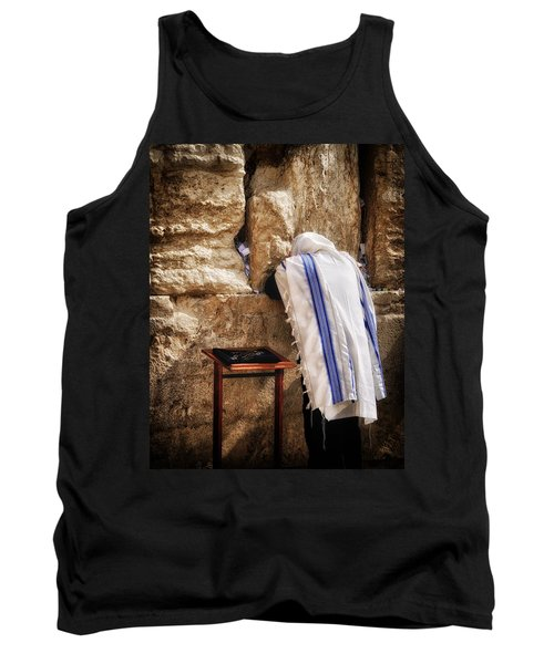 Harken Unto My Prayer O Lord Western Wall Jerusalem Tank Top