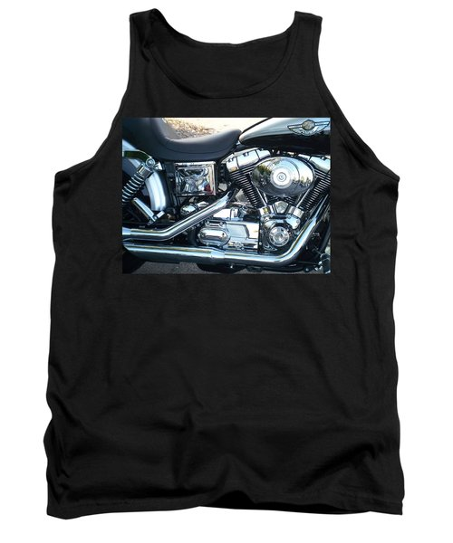 Harley Black And Silver Sideview Tank Top