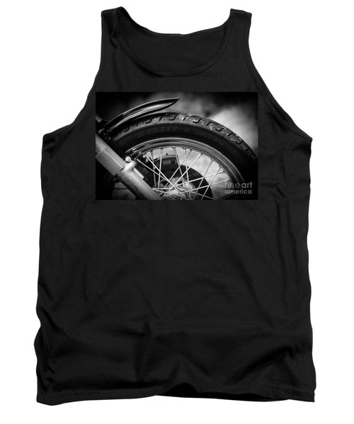 Tank Top featuring the photograph Harley Davidson Tire by Carsten Reisinger
