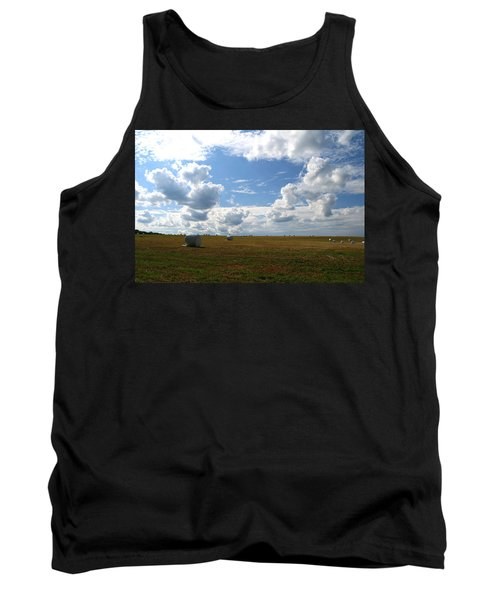 Tank Top featuring the photograph Harvest Blue  by Neal Eslinger