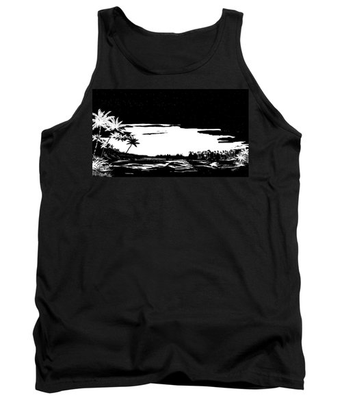Tank Top featuring the digital art Hawaiian Night by Anthony Fishburne