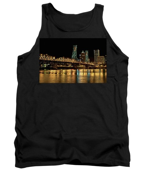 Hawthorne Bridge Over Willamette River Tank Top