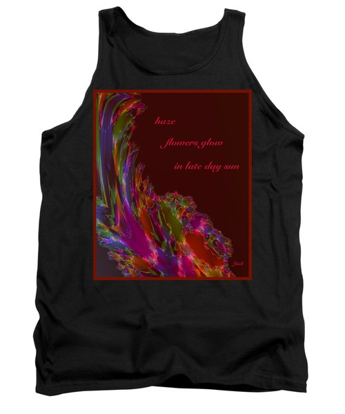 Tank Top featuring the digital art Haze Haiga by Judi Suni Hall