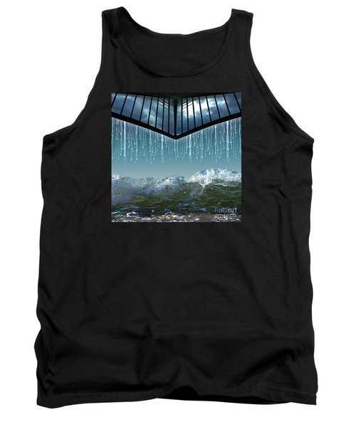 Tank Top featuring the digital art Heavens Crying by Rosa Cobos