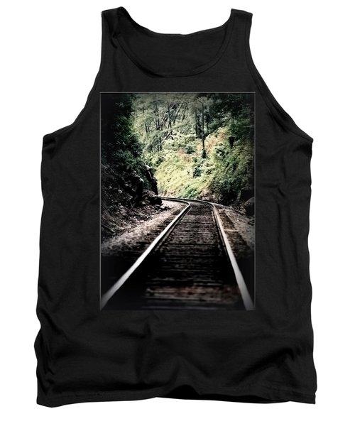Hegia Burrow Railroad Tracks  Tank Top