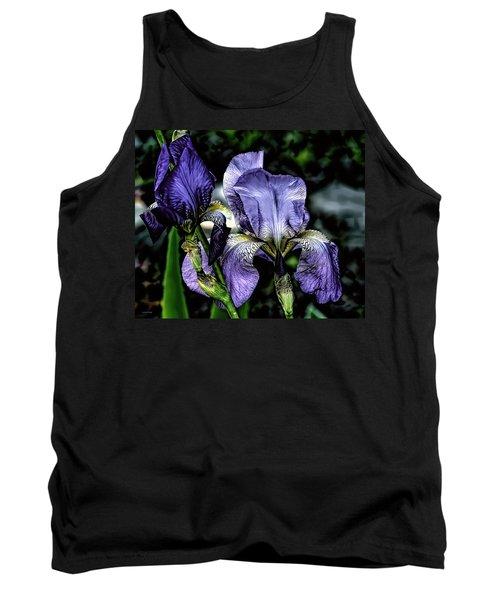 Heirloom Purple Iris Blooms Tank Top